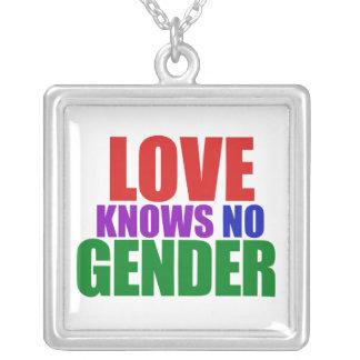 Love Knows no Gender Square Pendant Necklace