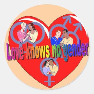 Love Knows No Gender Stickers