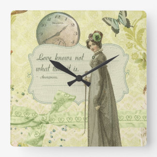 Love Knows no Time Square Wall Clocks