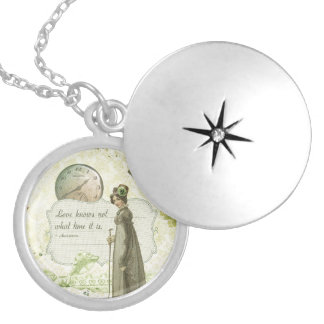Love Knows no Time Round Locket Necklace