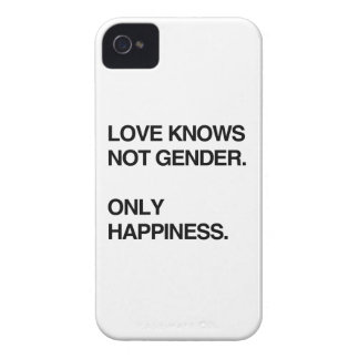 LOVE KNOWS NOT GENDER. ONLY HAPPINESS iPhone 4 COVER
