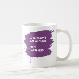 LOVE KNOWS NOT GENDER. ONLY HAPPINESS COFFEE MUG
