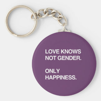 LOVE KNOWS NOT GENDER. ONLY HAPPINESS KEYCHAIN
