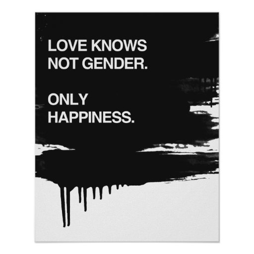 LOVE KNOWS NOT GENDER. ONLY HAPPINESS POSTER