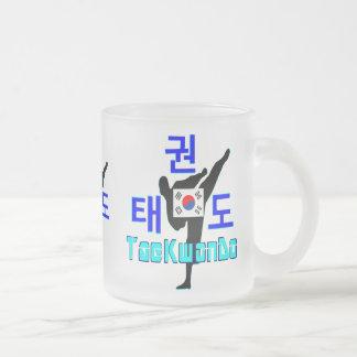 ❤☯✔Love Korean Martial Art-TaeKwonDo Frosted Glass Frosted Glass Coffee Mug