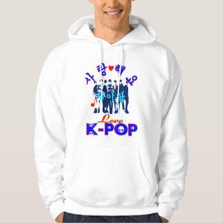♪♥Love KPOP Sweatshirt♥♫ encapuchado básico Sudadera Con Capucha