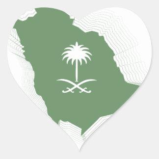 love KSA Heart Sticker