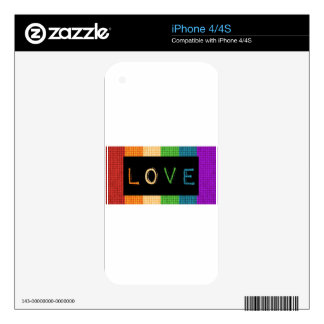Love Label LBGT Pride and Ally Support Decals For The iPhone 4