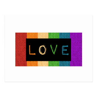Love Label LBGT Pride and Ally Support Postcard