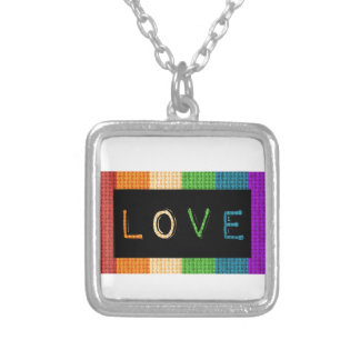 Love Label LBGT Pride and Ally Support Silver Plated Necklace