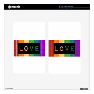 Love Label LBGT Pride and Ally Support Skin For Kindle Fire