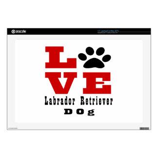 """Love Labrador Retriever Dog Designes 17"""" Laptop Skin"""