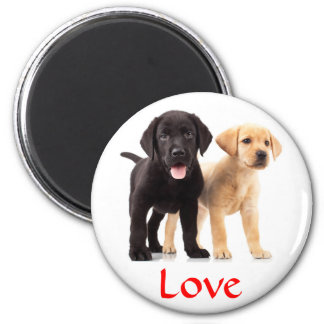 Love Labrador Retriever Puppies Fridge Magnet
