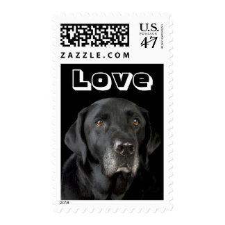 Love Labrador Retriever Puppy Dog Postage Stamp
