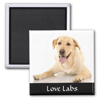 "Love Labs ""Yellow Labrador Retreiver""  Magnet"