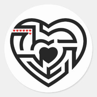 love labyrinth classic round sticker