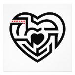 love labyrinth custom invitations