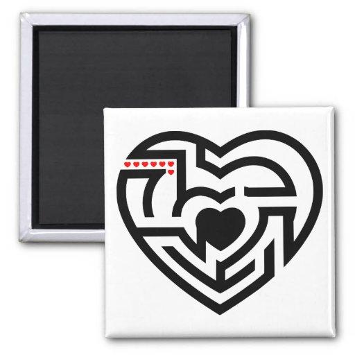 love labyrinth fridge magnet
