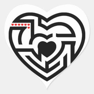 love labyrinth heart sticker