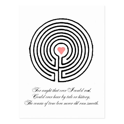 Love labyrinth - Valentine's Day Post Cards