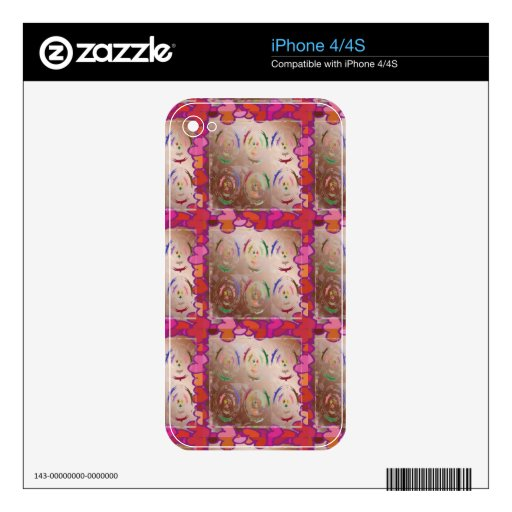 Love LACE Hearts iPhone 4S Decal