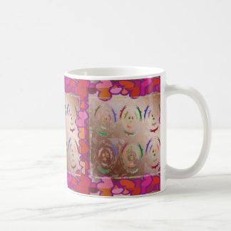 Love LACE Hearts Coffee Mugs