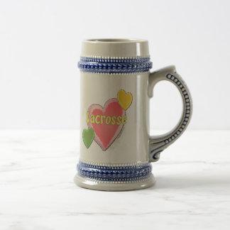 Love Lacrosse Heart Beer Stein