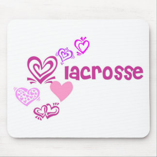Love Lacrosse Mouse Pad