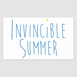 "Love lake life? Celebrate an ""Invincible Summer"" Rectangular Sticker"