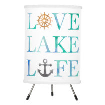 Love Lake Life Nautical Watercolor Typography Tripod Lamp