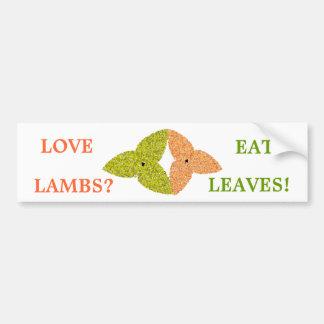 Love Lambs Eat Leaves Bumper Sticker