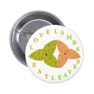 Love Lambs Eat Leaves Button