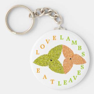 Love Lambs Eat Leaves Keychain