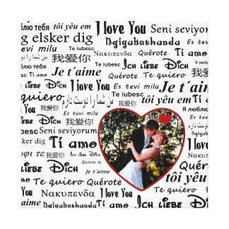 Love language canvas print