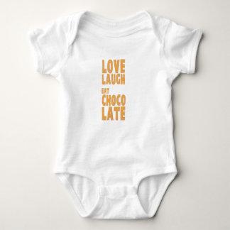 Love, laugh, eat chocolate baby bodysuit