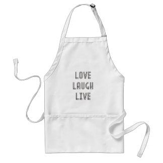 Love Laugh Live Adult Apron