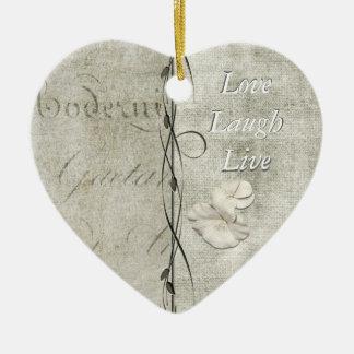 Love Laugh Live Ceramic Ornament