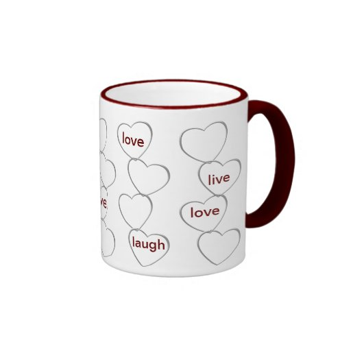 LOVE LAUGH LIVE MUG