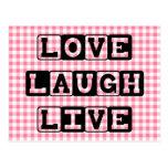 Love Laugh Live Postcard