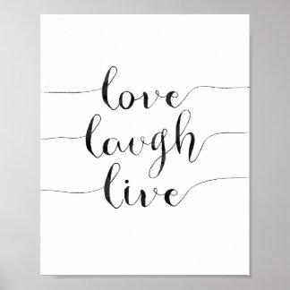 Live Love Laugh Posters Zazzle