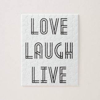 Love Laugh Live Jigsaw Puzzle