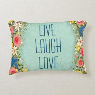 Love Laugh Love Accent Pillow