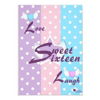 Love Laugh Sweet Sixteen Invitation-Customize Card