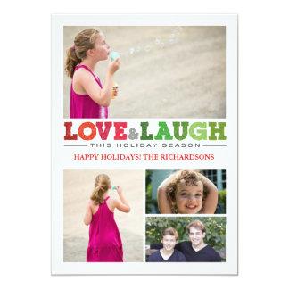 Love + Laugh x4 5x7 Paper Invitation Card