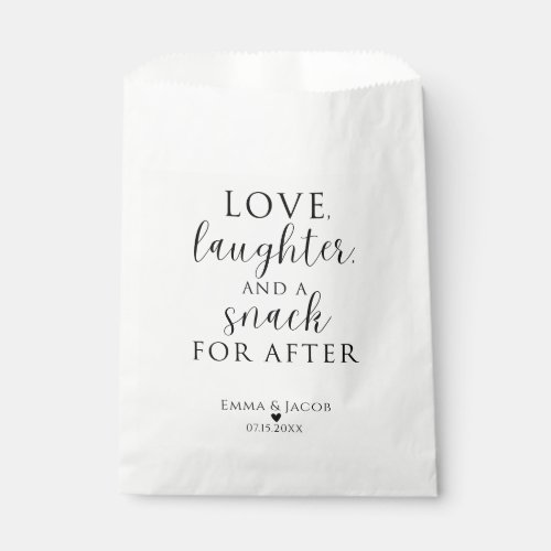 Love, Laughter, And A Snack For After Favor Bags