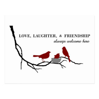 Love, Laughter and Friendship Postcard