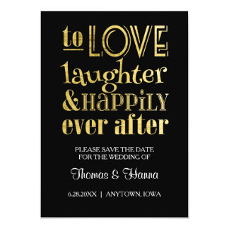 Love Laughter and Happily Ever After Wedding Card