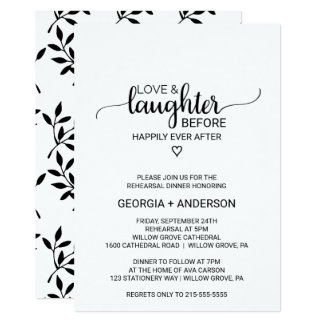 Love & Laughter Before Happily Ever After Invitation