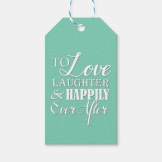 Love Laughter Happily Ever After Wedding Pack Of Gift Tags