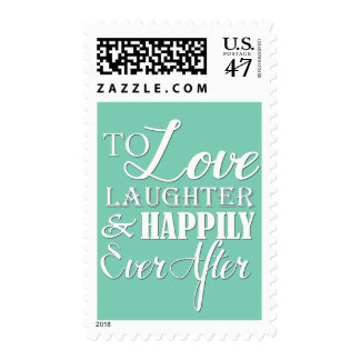 Love Laughter Happily Ever After Wedding Postage
